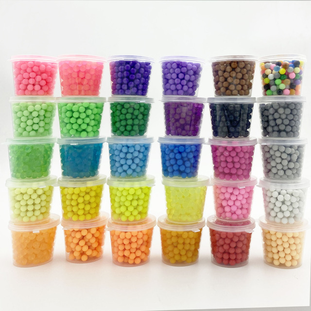 220Pcs Plastic box packag 30 Colors 5mm Water Beads Spray aqua Magic Educational 3D beads Puzzles Accessories for Children Toys 1