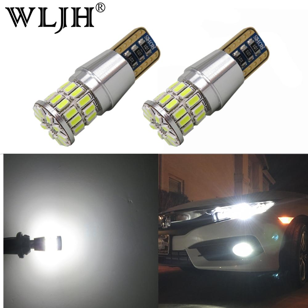 Partsam 2X High Power Super Brightness White Led T10 W5W 194 168 Bulbs Tool for License Plate Light High Mount Stop Light Backup Turn Signal Parking Lamp and Brake Light