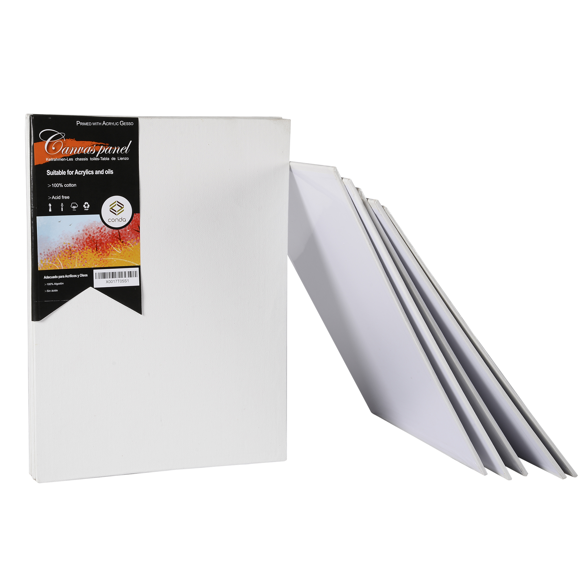 CONDA 11*14inch Canvas Panels Pack Of 12 Artist Quality Acid Free Canvas Board Oil Painting Board Professional Art Supplies