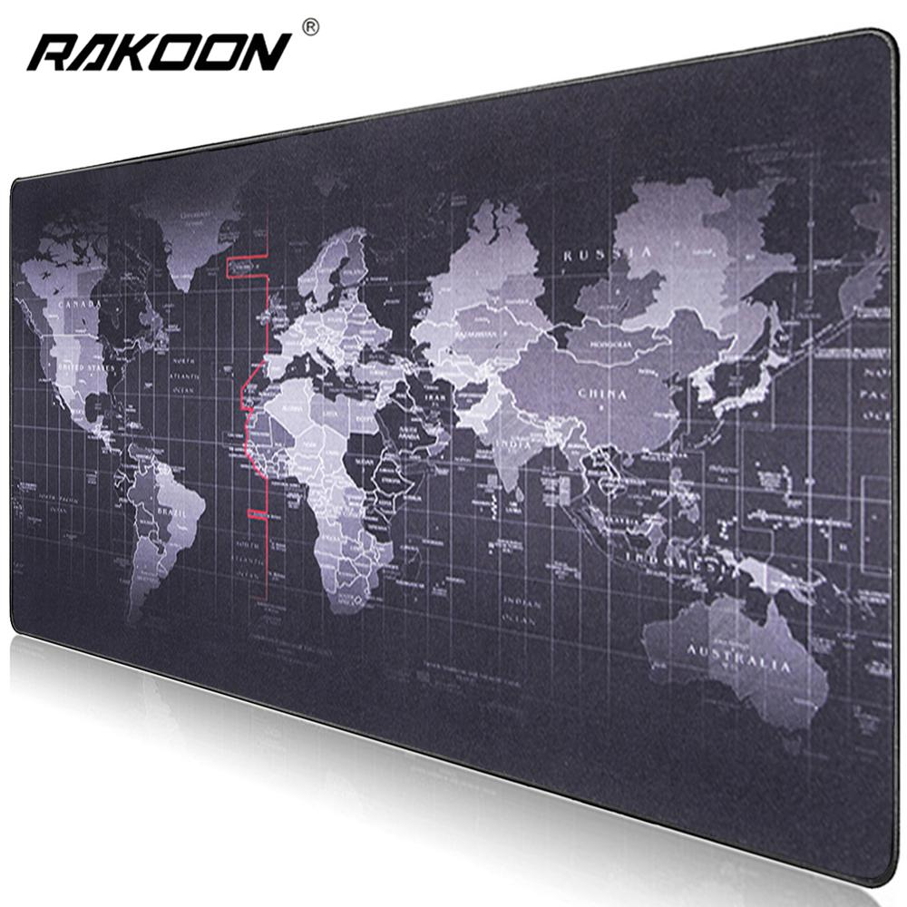 Large Gaming Mouse Pad Big Mouse Pad Gamer Mouse Mat Computer Mousepad Rubber Surface World Map Mause Pad Keyboard Desk Mat