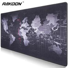 Rakoon Large Rubber Gaming Mouse Pad Locking Edge Computer Keyboard Pad Game Tablet Mouse Pad Mouse Mat Mousepad for Gamer rakoon 30 80cm large gaming mouse pad all black faced red blue black green lock edge rubber speed mouse mat for pc laptop
