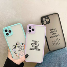 GYKZ Harry Styles Treat People With Kindness Phone Case For iPhone 7 11 Pro 12 XS MAX X SE 20 XR 8 Plus Camera Len Protect Cover