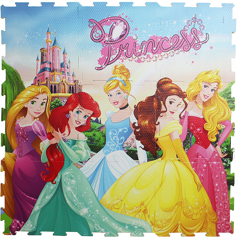 Princess 9pcs/pack  Foam Mat Mickey Minnie 30x30cm Per Piece Frozen Baby Child Play Floor Mat  Game Carpet Crawling Mat