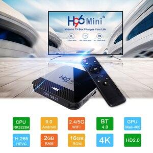 Image 2 - Vontar h96 mini h8 android 9.0 caixa de tv inteligente 2gb 16 rockchip rk3328a 1080p 4k bt wifi google store h96mini 1g8g conjunto caixa superior