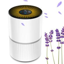 3 Modes Home Portable Air Purifier USB Charge LED Night Light True HEPA Filter Air Cleaner Anion Ionizer Negative Ion Generator free shipping solar energy air purifier usb charge portable air cleaner