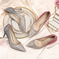 Surgical masks New Sexy High thin heels shoes women pumps bling wedding Bridal shoes classic pointed toe evening party shoes