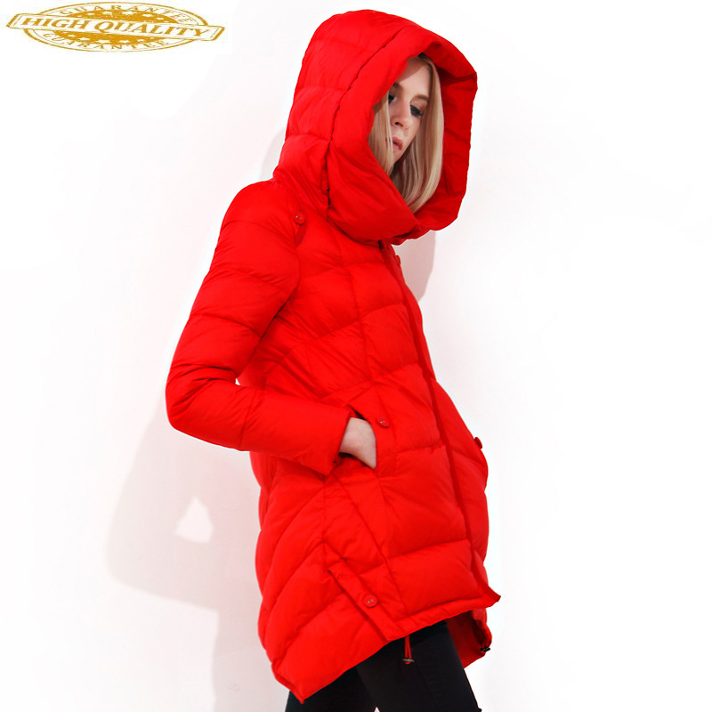 Winter Coat Down Jacket Woman Hooded Fashion Korean Ultra Light Puffer Jacket Warm Down Coats And Jackets 2020 SD15S187 KJ2609
