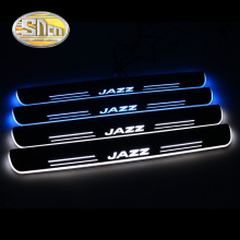 4PCS Acrylic Moving LED Welcome Pedal Car Scuff Plate Pedal Door Sill Pathway Light For Honda Jazz 2014 2015 2016 2017 2018 waterproof acrylic moving led welcome pedal car scuff plate pedal door sill pathway light fit for everest 2016 2017 2018
