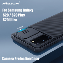 Samsung Galaxy S20 Ultra 5G Nillkin CamShield Pro slayt kamera kapak Samsung Galaxy için S20 / S20 Plus artı lens koruma çantası