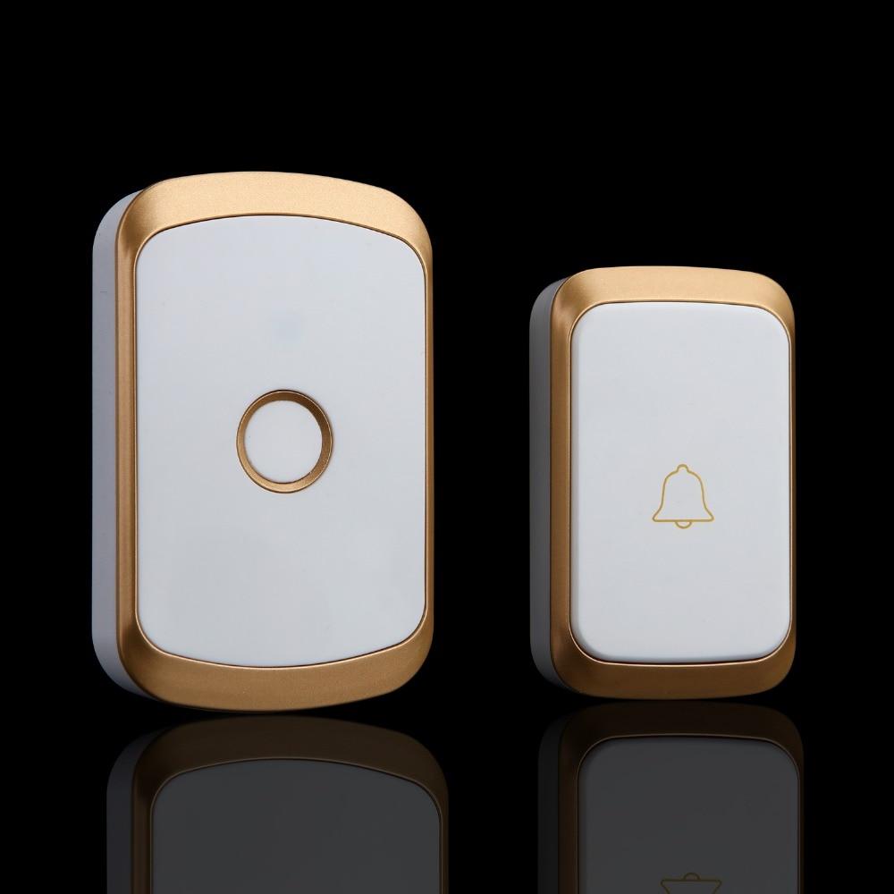 CACAZI Smart Home Wireless Doorbell Exchange Digital Music Doorbell  Remote Control Home Doorbell Waterproof Wireless Doorbell
