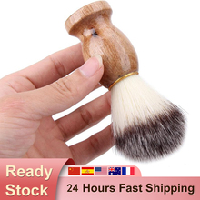 Men Shaving Beard Brush Badger Hair Shave Wooden Handle Facial Cleaning Appliance High Quality Pro Salon Tool Safety Razor Brush
