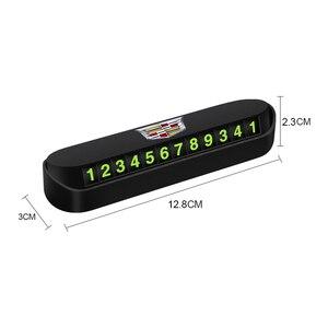 Image 2 - 1 adet araba geçici park kartı telefon numarası kart aksesuarları Cadillac SLS ATS SLR XLR Escalade CTS SRX BLS STS CT4 CT5 CT6