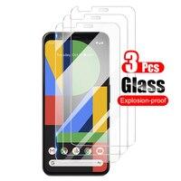 3Pcs Für Google Pixel 4 Pixel4 XL 4A 5G Ausgeglichenes Glas-schirm-schutz-schützender Film Für Google Pixel 4 XL Glas 9H 0,26mm