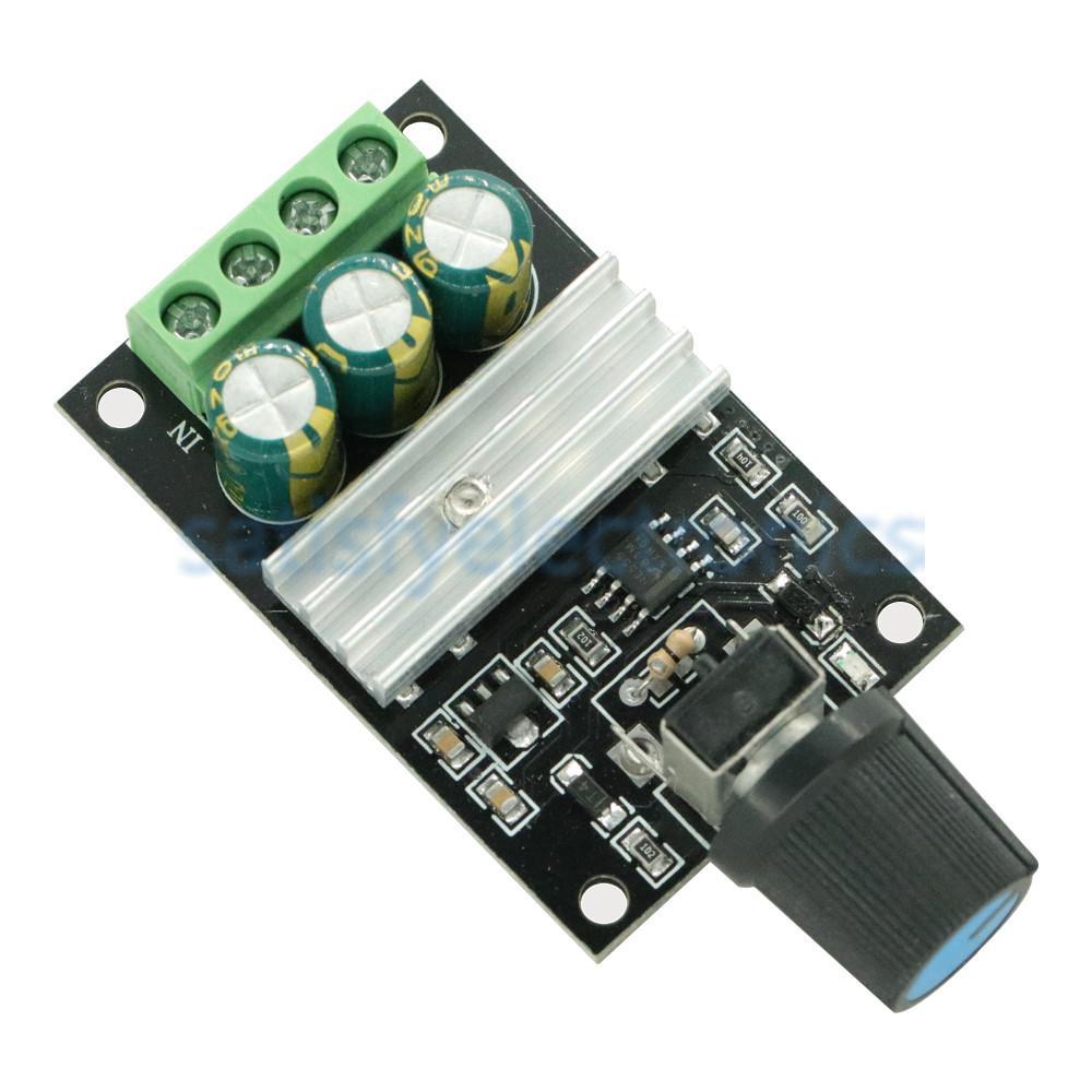 DC 6-28V 6V 12V 24V 28V 3A 80W PWM Motor Speed Controller Regulator Adjustable Variable Speed Control With Potentiometer Switch