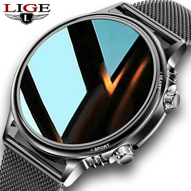 LIGE New Smart Watch Men Custom Dial Full Touch Screen Waterproof Smartwatch For Android IOS Sports LIGE New Smart Watch Men Custom Dial Full Touch Screen Waterproof Smartwatch For Android IOS Sports Smart watch Fitness Tracker