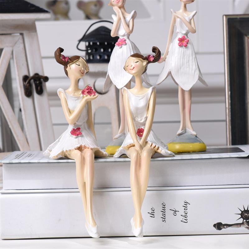 4 pçs de pé sentado boneca de