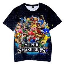 Super Smash Bros Ultimate 3D Print T-Shirt Men Women Fashion Anime Game T Shirt Harajuku Boy Girl Tshirts Kids Tees Tops Clothes