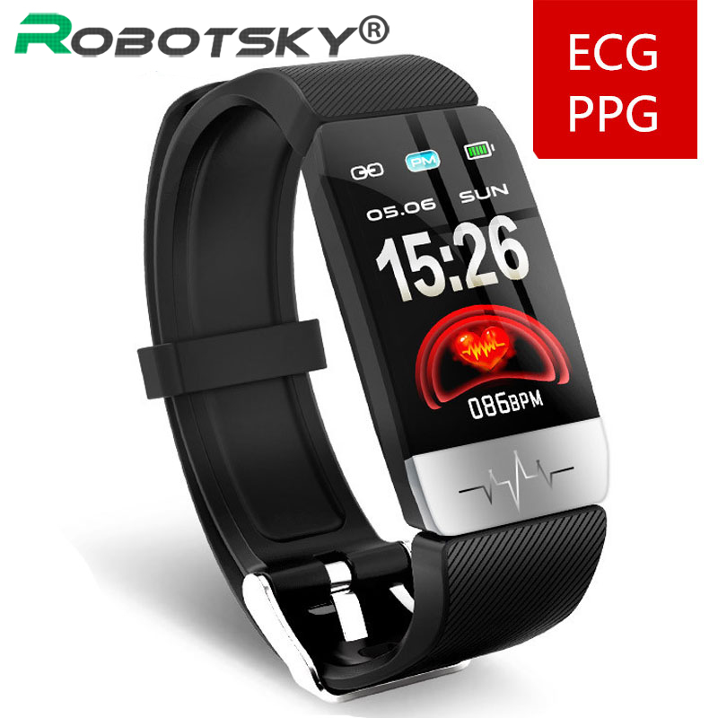 Q1S Smart Bracelet ECG+PPG Fitness Tracker Heart Rate Blood Pressure IP67 Waterproof Weather Forecast Sports Smart Band Watch