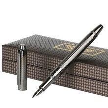 גיבור מתכת מוברש מזרקת עט H610 מים אדוות אופנה Iraurita בסדר 0.5mm אפור/זהב/רוז זהב עסקים משרד תלמיד מתנה