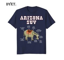 Arizona Az Suv Funny Joke Horse Mule Souvenir Gift T-Shirt Stranger Things Design T Shirt 2019 New Cool Short Sleeve Men Tees(China)