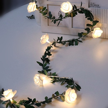 Flower Lights Fairy-String Garland-Decor Battery-Powered Led Party Wedding-Valentine's