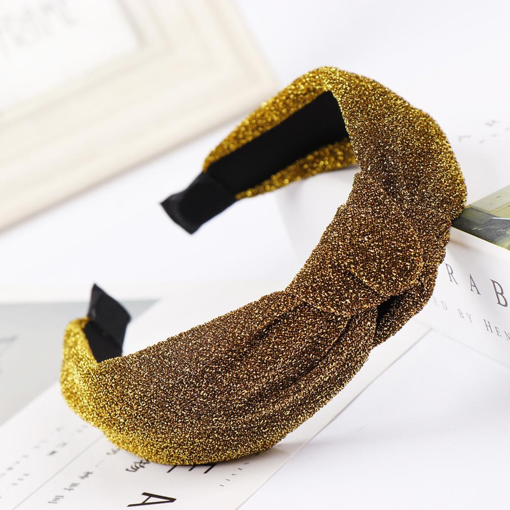 Lote Faça Você Mesmo Simples Multi Fil-lumiere Lint Amarrar um nó Cabeça Bandas Elasticidade Yoga Headbands Hair Styling Tools Acessório Ha1277 40 Pçs –