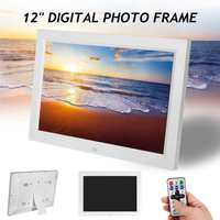 12 HD 1080P Electronic Album Picture LED Digital Photo Picture Frame Movie Player Remote Control Digital Photo Frame