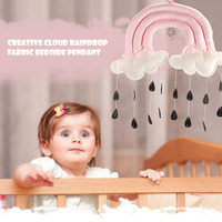 Cloud Raindrop Props Baby Crib Fabric Mobile Hanging Pendant Toy Room Nursery Tent Decoration Cute Photography Gifts Accessories