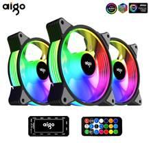 Aigo AR12 ordinateur 120mm boîtier ventilateur RGB dissipateur thermique aura sync SATA interface 12cm refroidisseur argb silencieux ventilateur contrôleur ventilateur refroidissement
