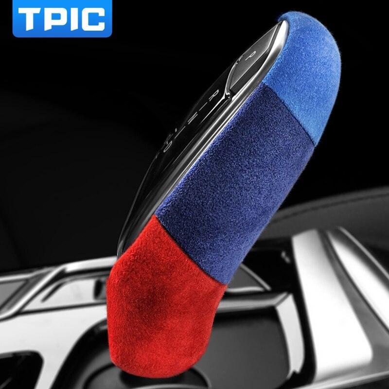 Alcantara чехол Обёрточная бумага кожаная ручка переключения рулевого механизма автомобиля покрытие из АБС-пластика украшения для BMW G30 G38 G32 G01 ...