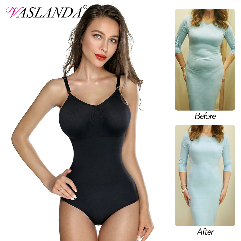 Women Shaping Full Body Shaper V-neck Summer Tops Waist Trainer Butt Lifter Bodysuits Postpartum Shapewear Slimming Underwear