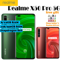 New Realme X50 Pro 5G Mobile Phone 6.44 8/12GB RAM 128/256GB ROM Snapdragon 865 65W SuperDart Dual SIM NFC 64MP Camera Phone