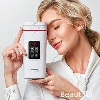 Hervidor eléctrico automático de 100-240V Mini portátil de viaje de preservación de calor hervido bote de agua temperatura ajustable tetera 500ml
