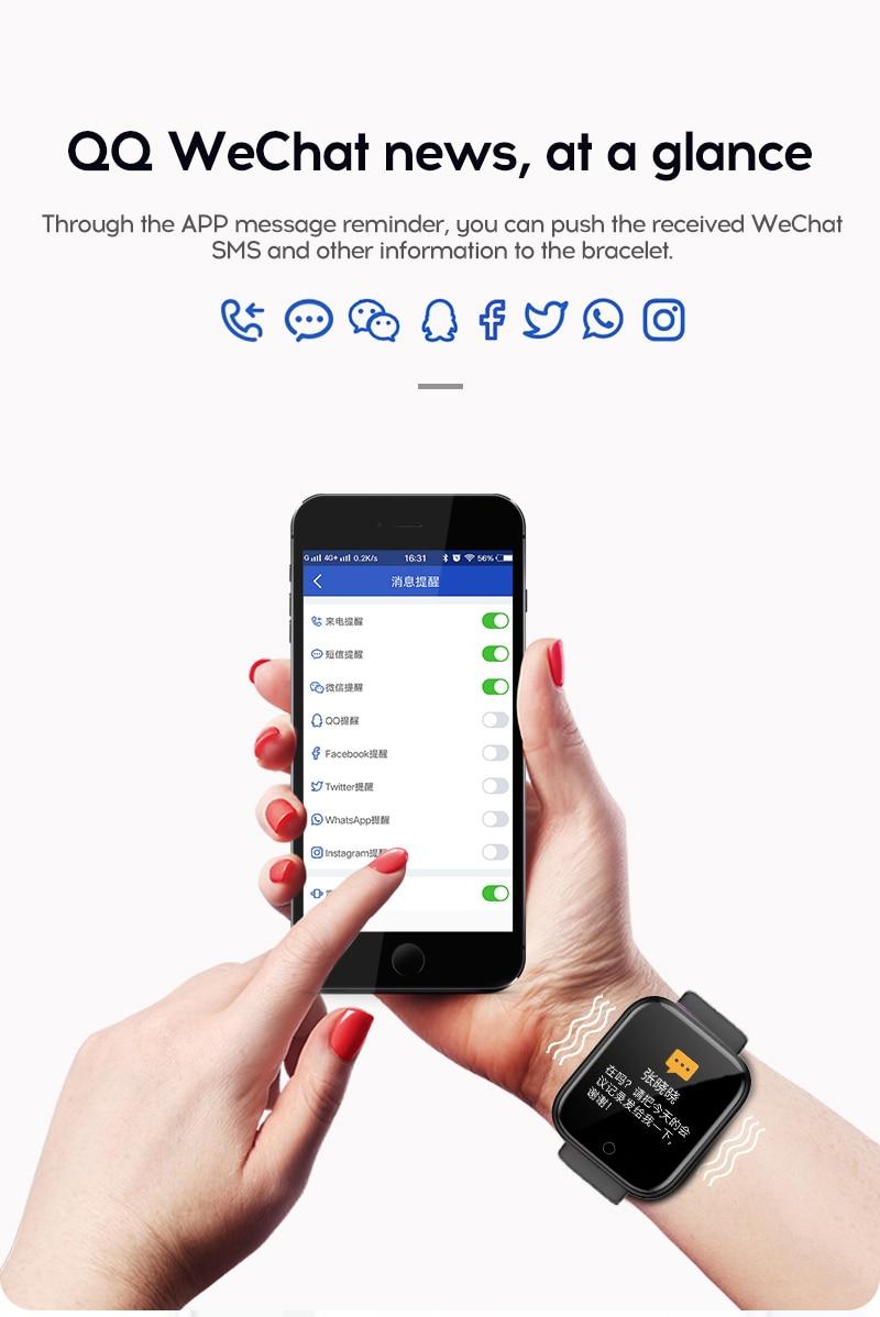 Hdfe103849e2540a6b4fce46d077eafb1C Smart Watch Blood Pressure Smartwatch Tracker Heart Rate Fitness