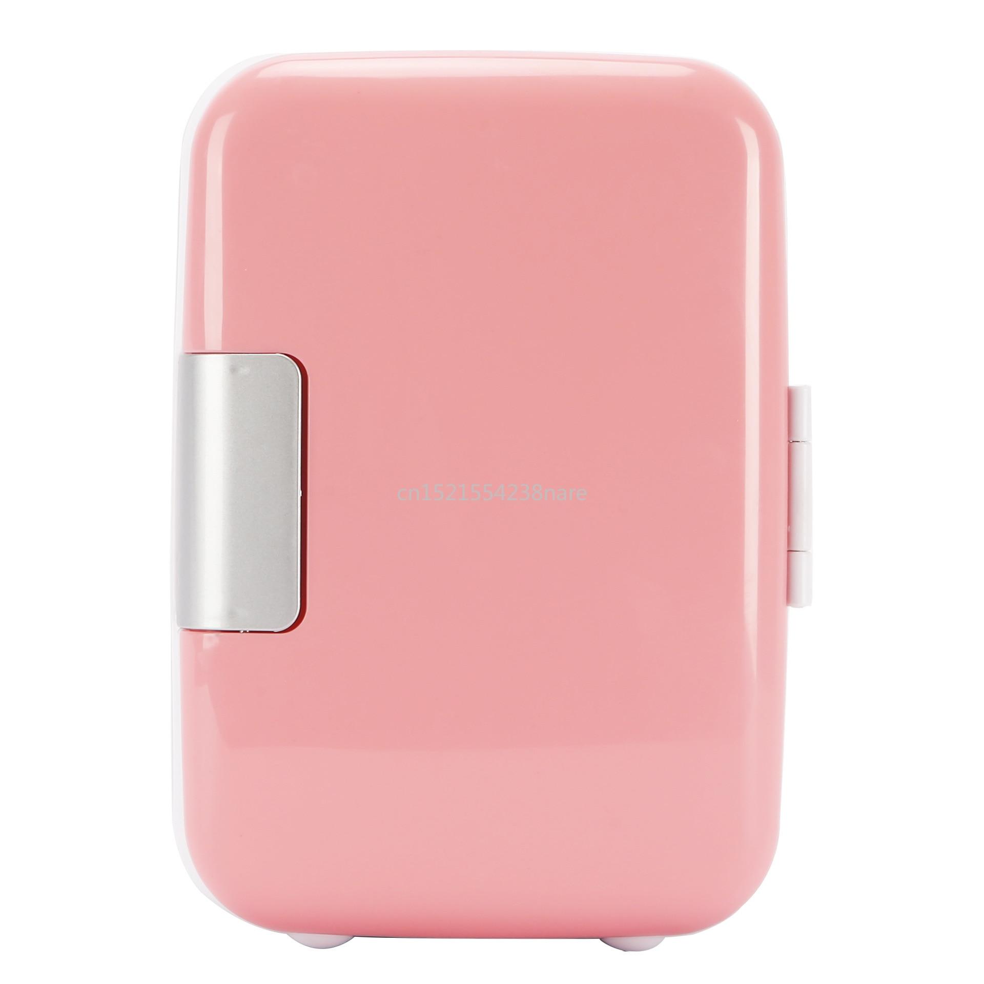 22%,pink 4L Mini Home Car Fridge Mobile Refrigerator Mute Food Grade PP Freezer ABS Aluminum 5-65 Celsius Cold/warm Box