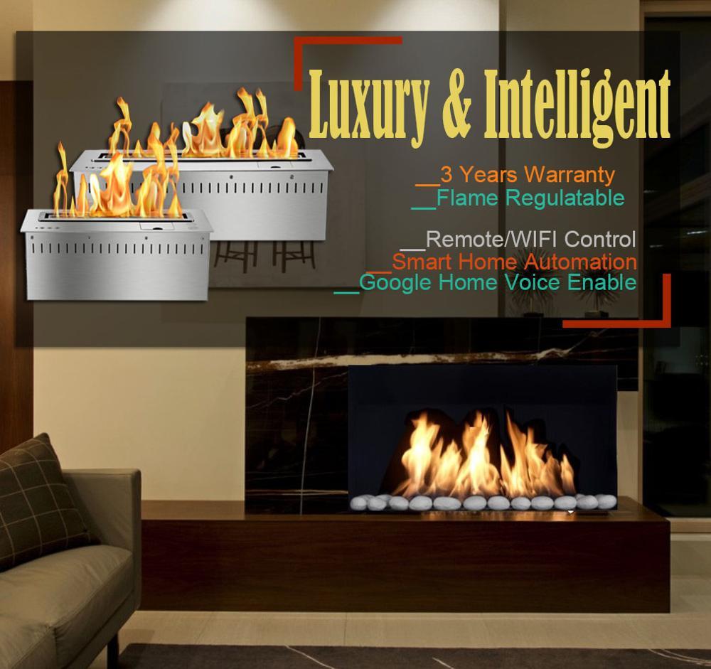 Inno Living 30 Inch Smart Fireplace Ethanol Burner Indoor Heater