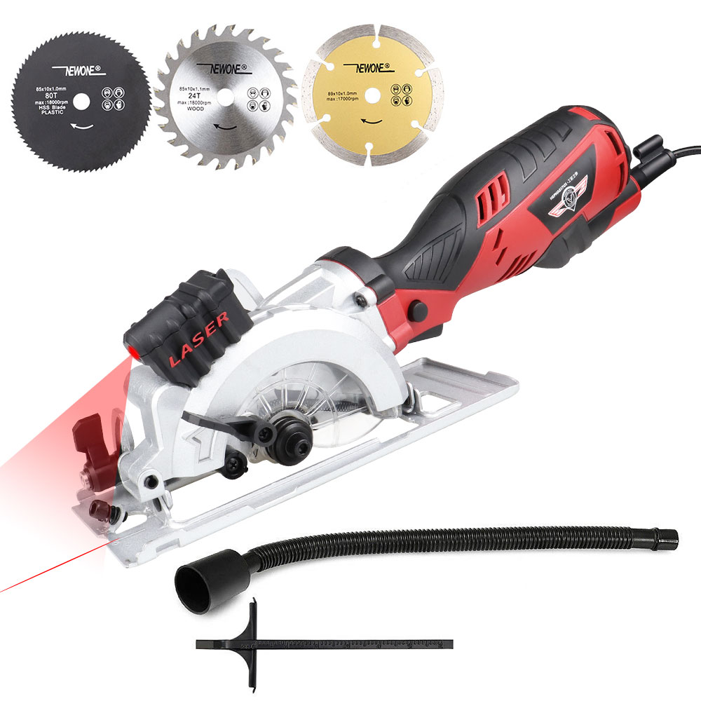 NEWONE 600W/705W Electric Power Tool Electric Mini Circular Saw With Laser, Electric Saw For Cutting Wood,PVC Tube, Metal, Tile