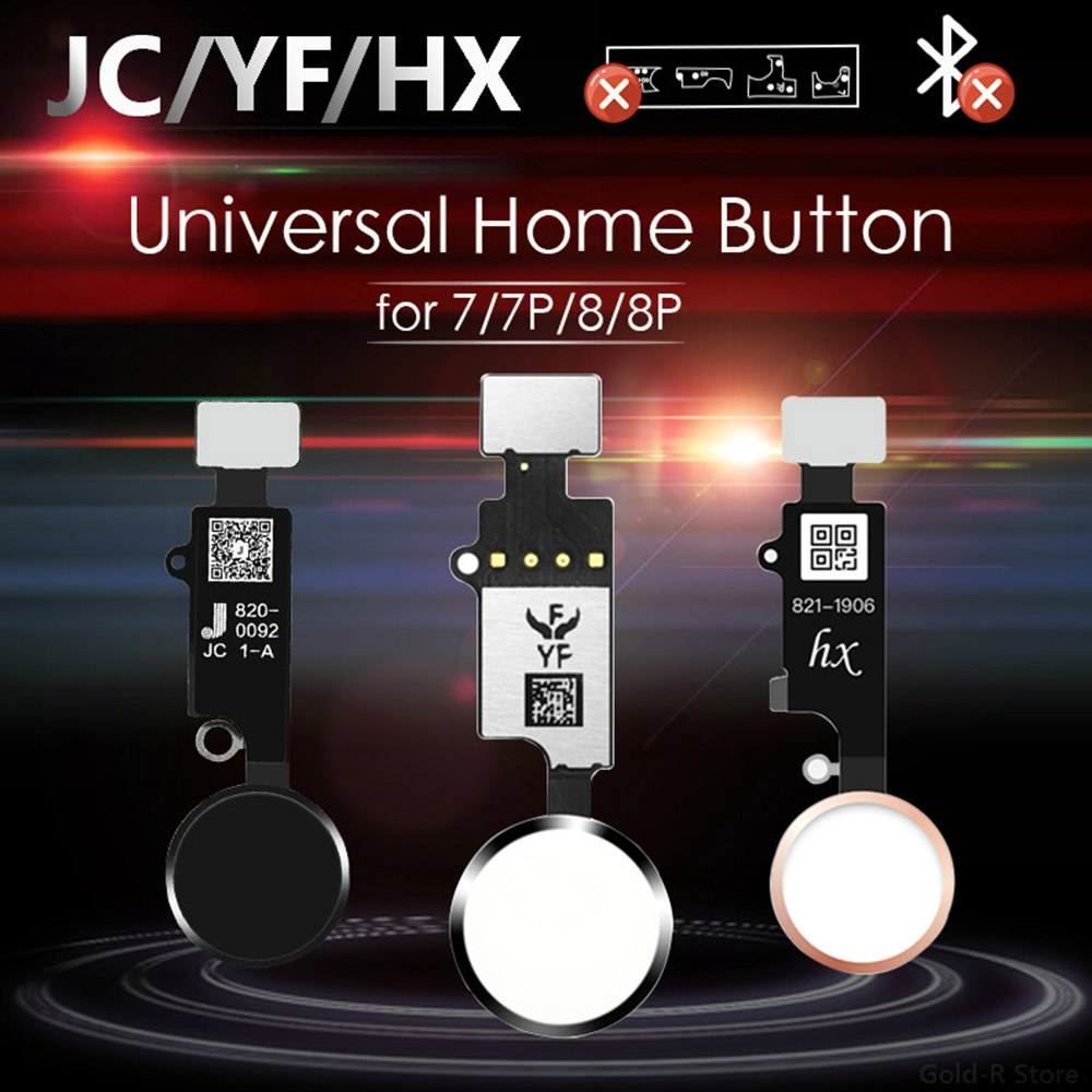 JC / Meibi 5th YF HX 3rd Gen Universal Home Button For IPhone 7 7G 8 8G Plus Menu Keypad Return On Off Function No Touch ID