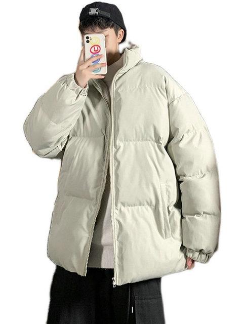 Winter Jacket Men Parkas Thicken Warm Coat Mens Stand Collar Jackets Solid Color Parka Coat Women Fashion New Streetwear 5XL 6