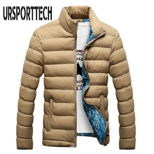 купить Quality Winter Jacket Men 2019 Fashion Stand Collar Male Parka Jacket Mens Solid Thick Jackets and Coats Man Winter Parkas M-4XL по цене 1003.83 рублей