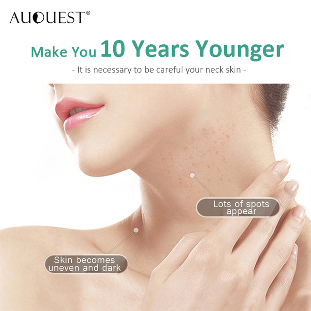 Crema de arrugas para el pecho con cuello AuQuest crema reafirmante para la piel crepé seca crema hidratante y levantadora para el cuidado de la piel sin edad 3