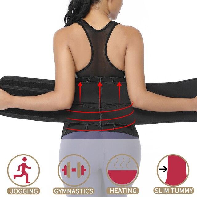 Women Slimming Waist Trainer Neoprene Body Shaper Sheath Belly Reducing Shaper Tummy Sweat Shapewear Workout Trimmer Belt Corset 4