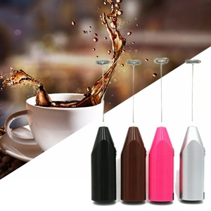 Handheld Stainless Steel Coffee Milk Drink Electric Whisk Mixer Frother Foamer Battery Operated Kitchen Egg Beater Stirrer