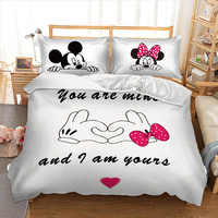 Disney Mickey Mouse cartoon printed bed linens set queen King single double sizes bedding set for comforter duvet cover set 3pcs