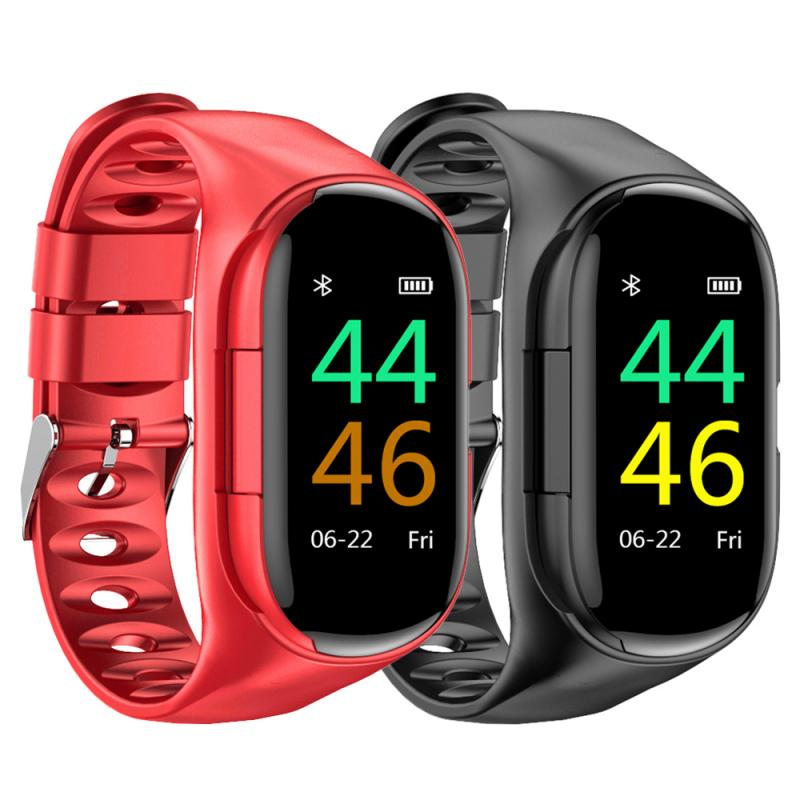 2 In 1 AI Smart <font><b>Watch</b></font> With TWS Bluetooth Earphone <font><b>M1</b></font> Smart Bracelet Wristband Heart Rate Monitor Long Standby Sport <font><b>Watch</b></font> image