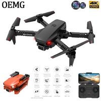 OEMG Mini RC Drone 4K HD Dual Kamera WIFI FPV Luftdruck Höhe Halten One Key Rückkehr Hause Faltbare quadcopter Kid Spielzeug Geschenk