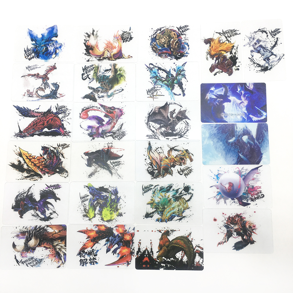 Monster Hunter World Card Game Collection Shining Box PVC Cards ICE BORNE Toys For Children