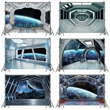 Birthday Backgrounds Universe Earth Spaceship Capsule Interior Little Astronaut Photography Backdrops Baby Portrait Photozone