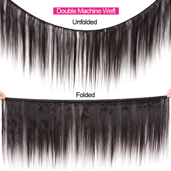 KLAIYI HAIR Malaysian Straight Hair Bundles With Closure 100% Human Hair Extension 3 Bundles With Closure Remy Hair FreeShipping 2