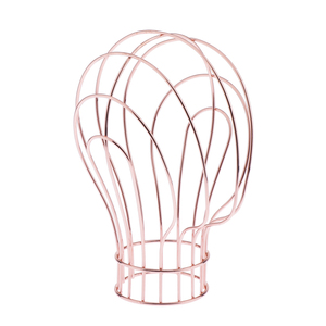 Metal Freestanding Wire Mannequin Head Hat Stand/ Hat Rack / Wig Holder Storage Display Stand - Rose Gold & Golden Optional(China)